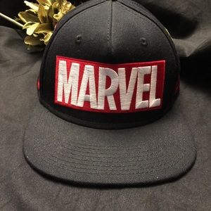 Marvel-Black, Hat with Embroidered Logos